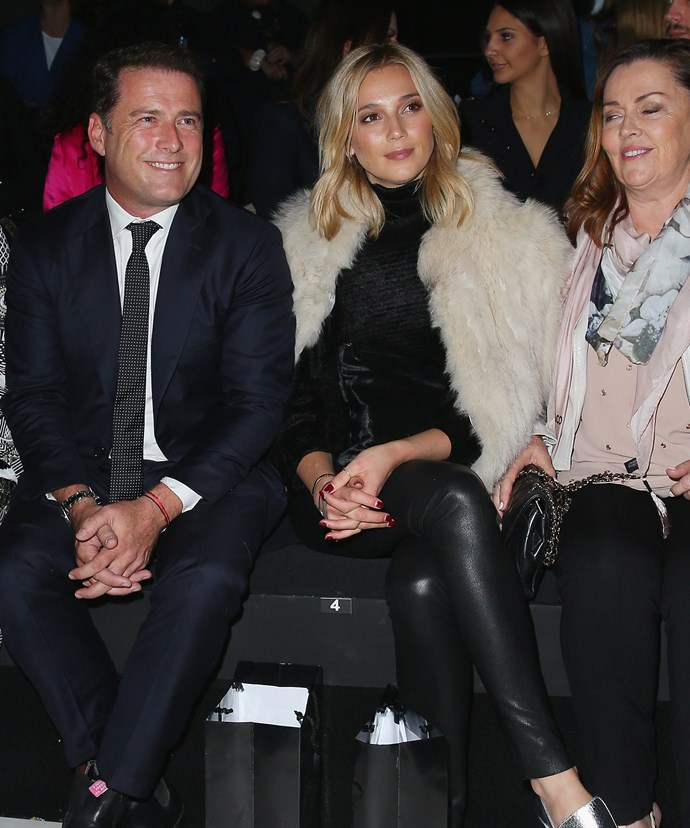 Karl, pictured with Jasmine and her mother, is said to have grown close to his girlfriend's family.