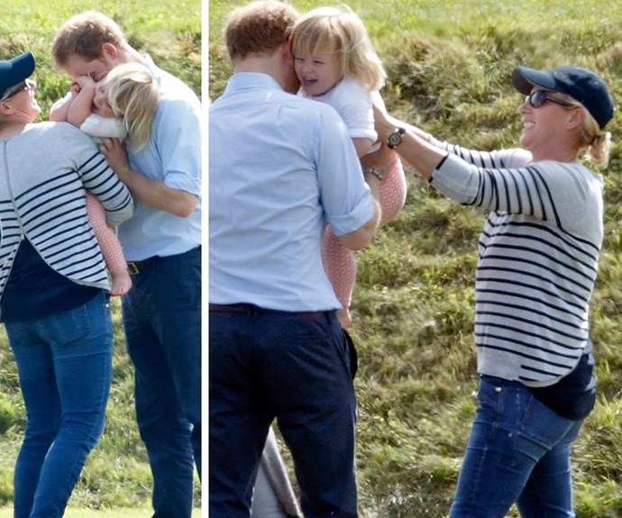Prince Harry is certainly a fan of wee Mia.