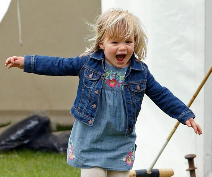 The couple's little saving grace, Mia Tindall.