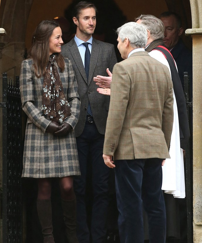 The couple spent Christmas morning there with Pippa's family.