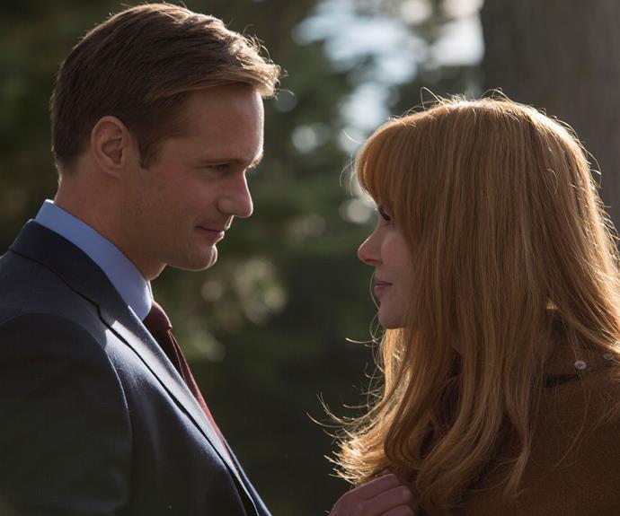 Alexander Skarsgård and Nicole Kidman as dysfunctional married couple Perry and Celeste.