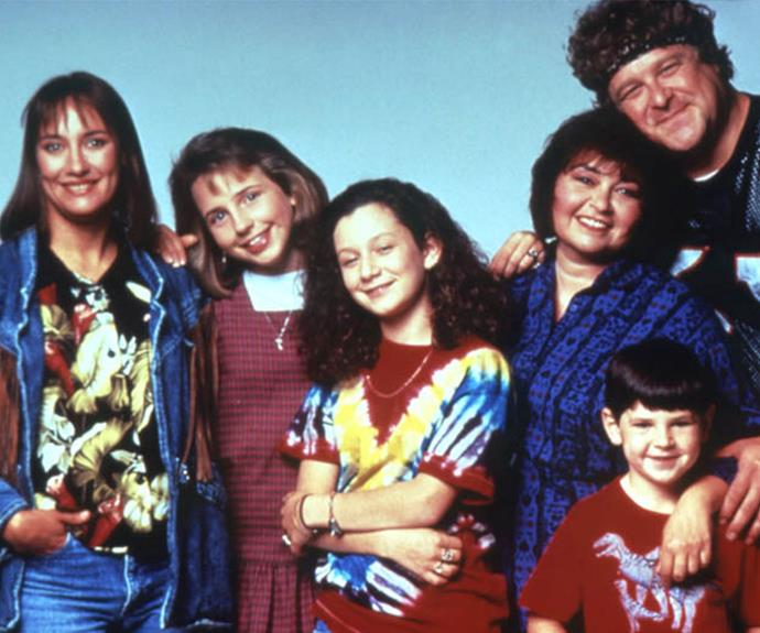 The cast of *Roseanne*.