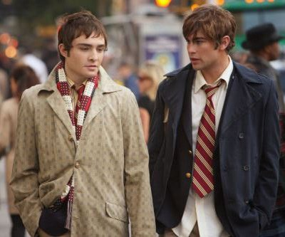 Ed Westwick and Chace Crawford as Upper East Side hotties, Nate and Chuck.