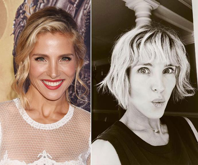 Elsa Pataky swapped her Byron Bay beach waves for a shaggy, chin-grazing bob. We loved the blunt fringe and the lighter colour.