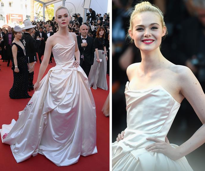 Elle Fanning is princess perfection.
