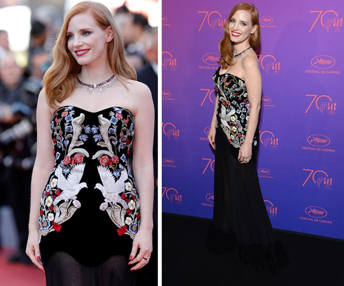 Jessica Chastain goes classic Hollywood.