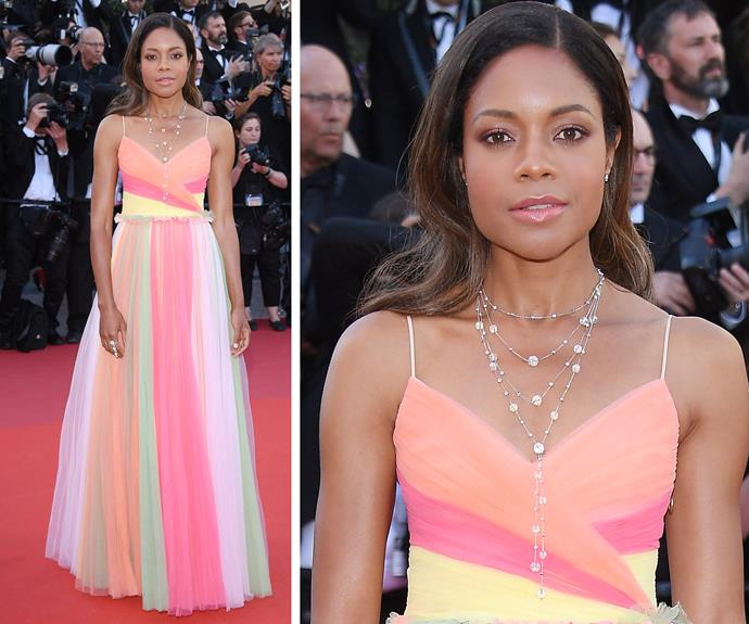 British star Naomie Harris is a technicolour dream.