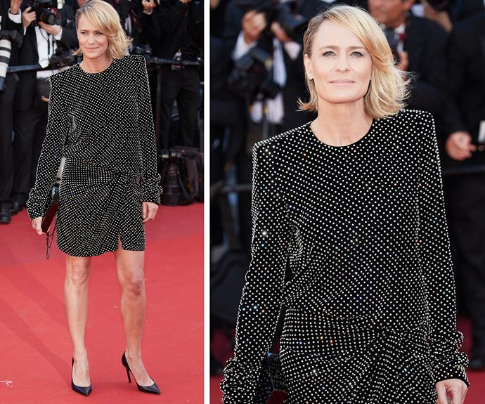 Legs for days, Robin Wright.