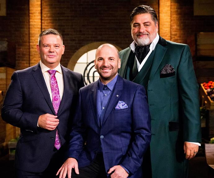 Matt with his fellow *MasterChef* judges, Gary Mehigan and George Calombaris.