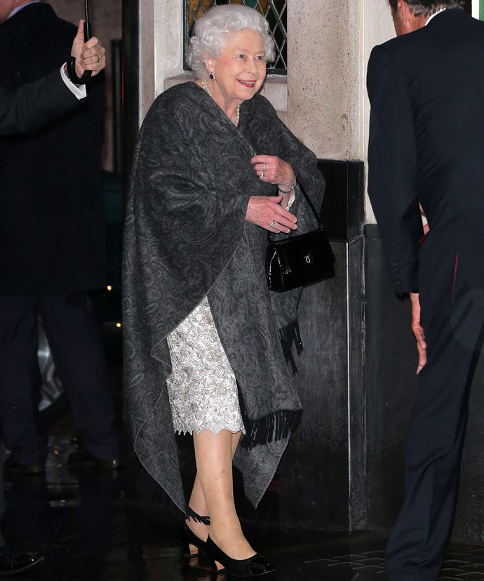 Her Majesty rarely dines out in public.