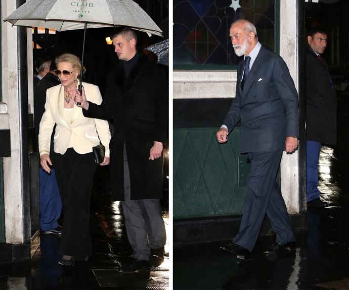 She was joined by her cousin Prince Michael of Kent and his wife.