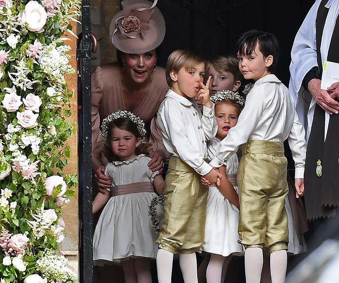 Duchess Catherine made sure Charlotte and George were on their best behaviour.