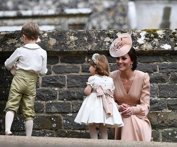 Proud mum Catherine congratulates Charlotte.