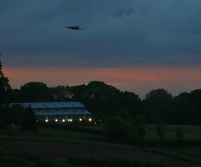 Just as night fell, guests were treated to a World War Two Spitfire flyover.