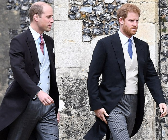 Harry dashed back to London to pick up Meghan for the reception.