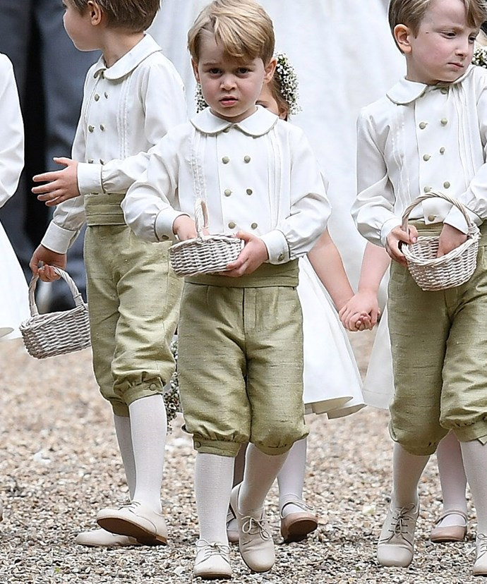 Great responsibility comes with the job of pageboy.