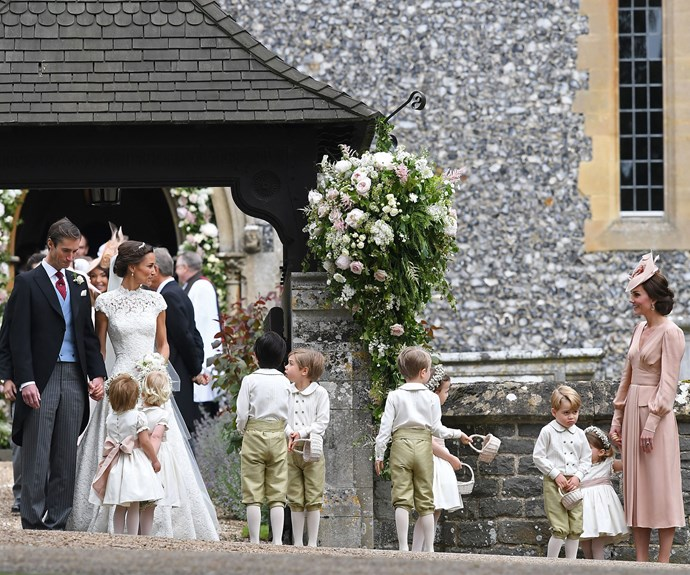 Kate was overwhelmed with love for her little sister on her big day...