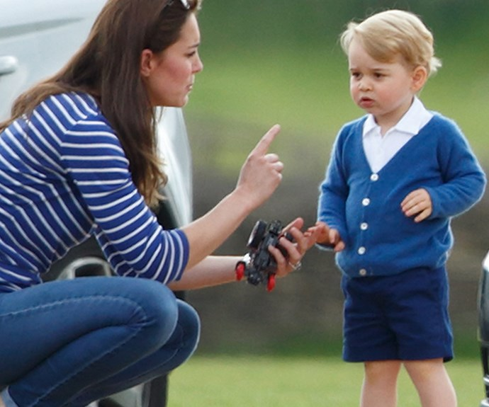 Or watching dad at the polo?