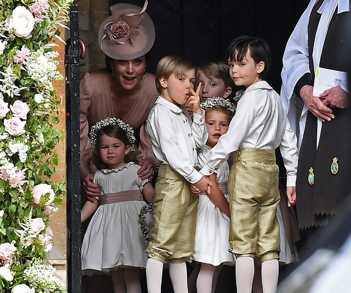 While the Duchess handled the responsibility with grace...