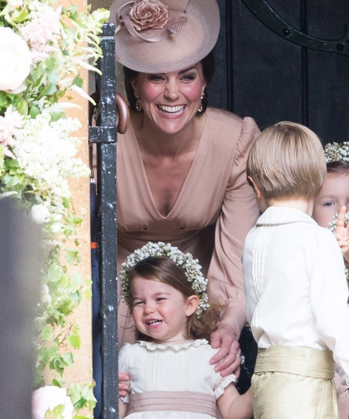 Thankfully her daughter Charlotte proved to be the bridal party's MVP.