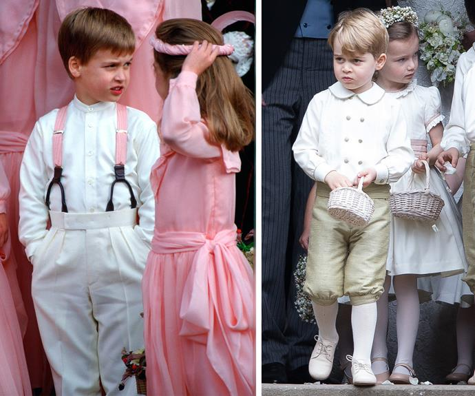 Just like dad! George reminds us so much of William when he was a pageboy.