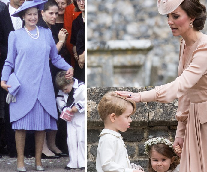 Royal pats have been a remedy for cheeky princes since the '80s! William was the pageboy at his uncle Prince Andrew's wedding to Sarah Ferguson back in 1986. Dressed in a sailor outfit, he gets some love from granny, The Queen.