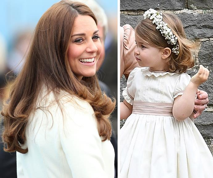 "In May 2017, we saw Princess Charlotte in her sparkling role as [Pippa Middleton's bridesmaid](http://www.nowtolove.com.au/royals/british-royal-family/prince-george-princess-charlotte-stole-pippa-wedding-37622|target=""_blank""). And the little princess has clearly inherited her mum's luscious locks and sweet smile."