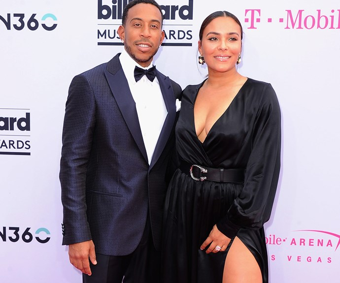 Ludacris, who is also a host, steps out with his gorgeous wife Eudoxie Mbouguiengue.