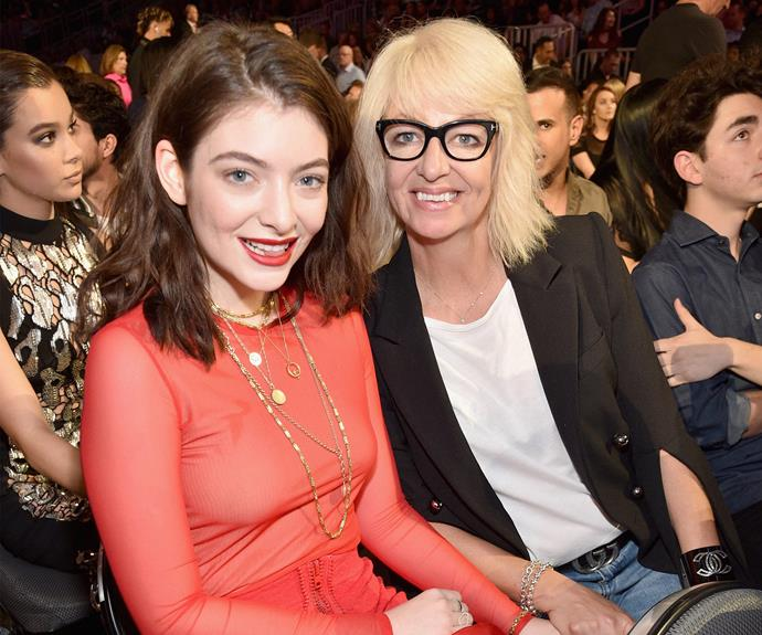 Lorde with her number one fan, mum Sonja Yelich.