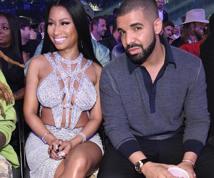 Drake with his collaborative counterpart, Nicki Minaj.