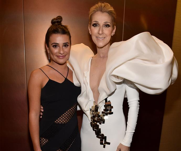 Lea Michelle looks so starstruck and we don't blame her.