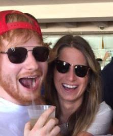 Ed Sheeran and girlfriend Cherry Seaborn *Image: Instagram @Calvin Harris*