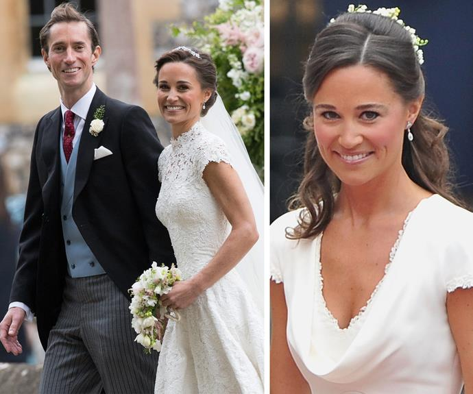 Pippa wore the same earring she donned as bridesmaid for her sister's big day.