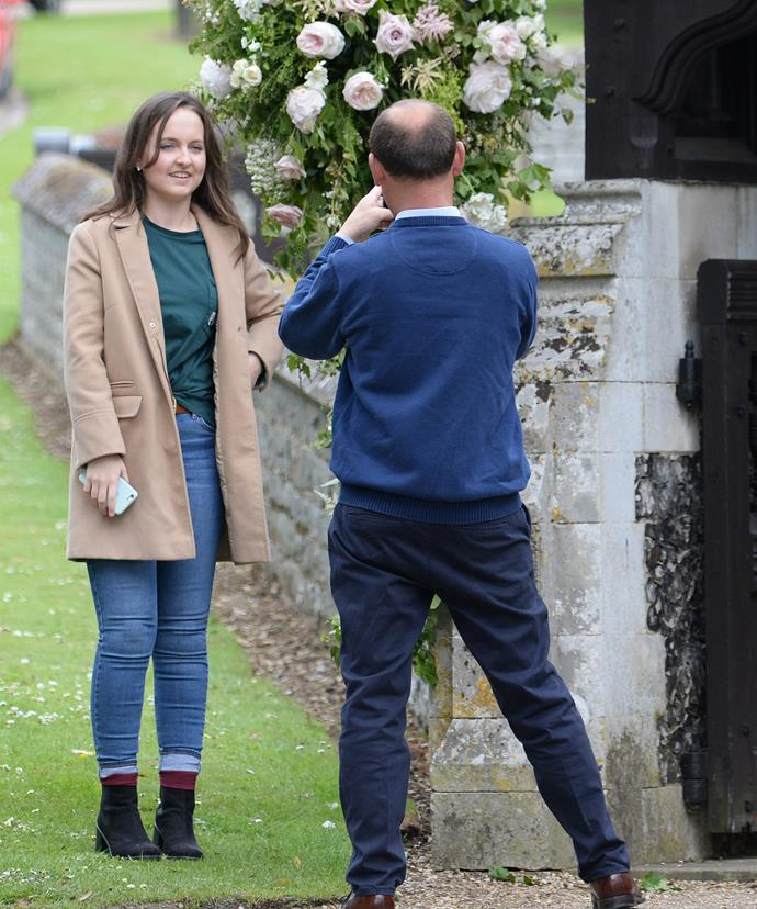 Locals capturing a snap shot of royal history.