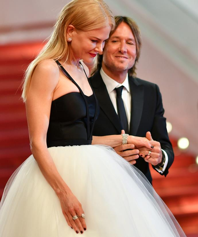 "Speaking at the festival, Nicole admitted she feels ""lucky"" to be married to the Grammy winner."