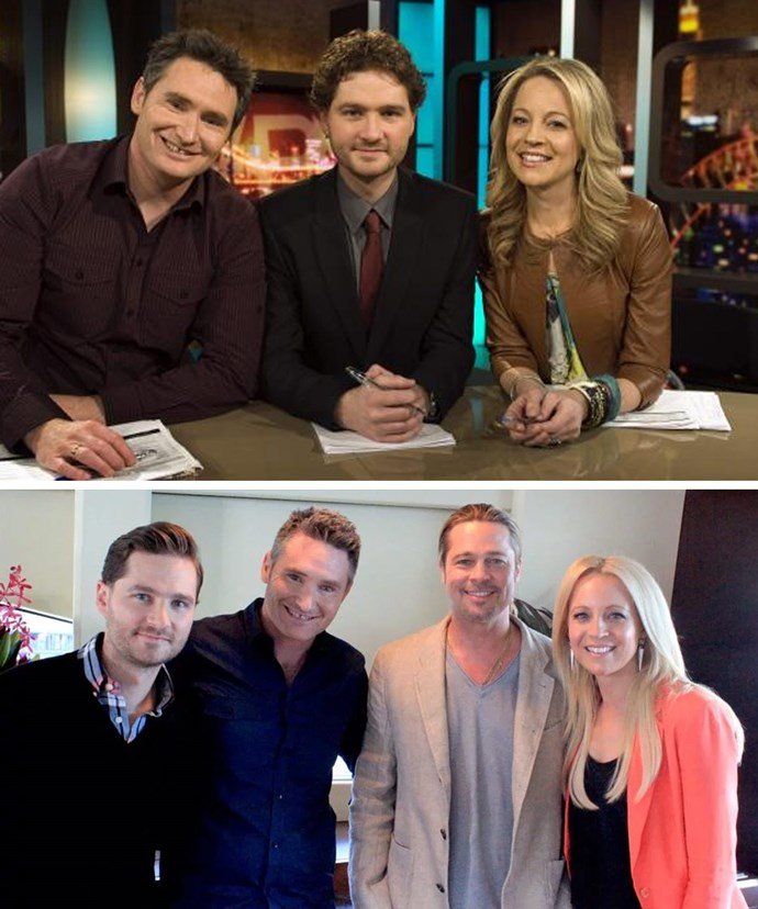 Dave Hughes, Charlie Pickering and Carrie Bickmore were the original hosts of *The 7PM Project*.