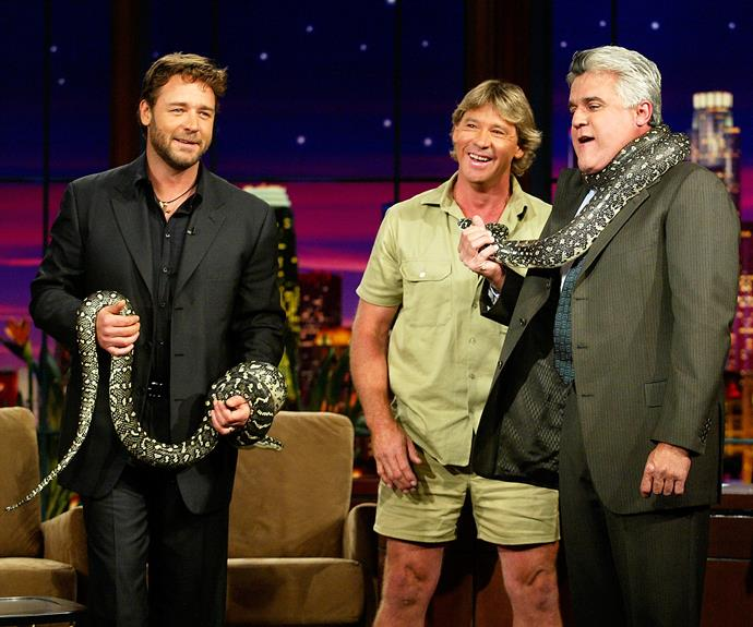 Russell and Steve were great friends, pictured at the Jay Leno show back in 2003.