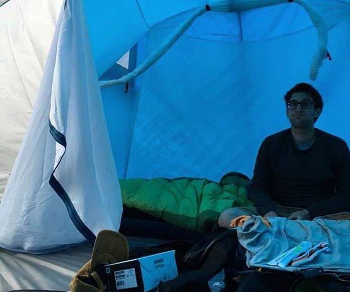 Andrew and Jono didn't love their time in the tent.