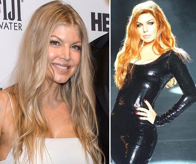 "[Fergie](http://www.nowtolove.com.au/celebrity/celeb-news/fergie-shares-story-of-baby-axls-first-steps-26321|target=""_blank"") looks too hot to handle with her fiery new hair. The scarlet hue might for for the singers new video clip, but we hope she keeps the colour anyway."