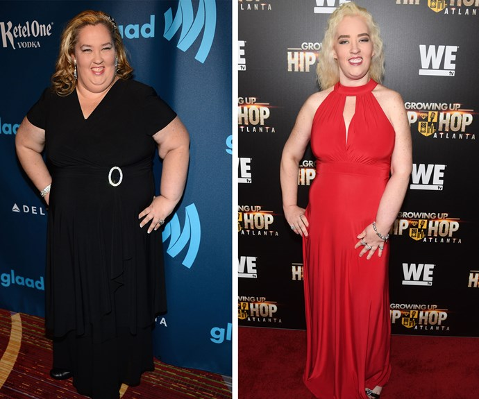 On the left, Mama June in 2013.