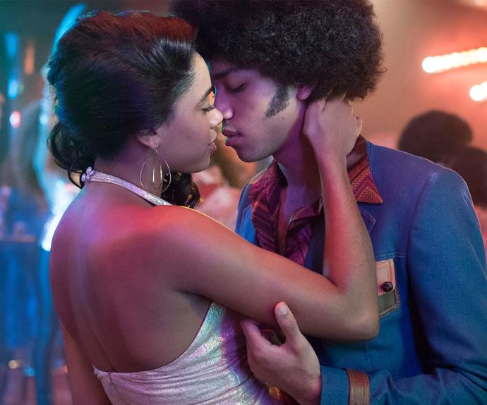 Justice Smith and Herizen Guardiola in *The Get Down*.