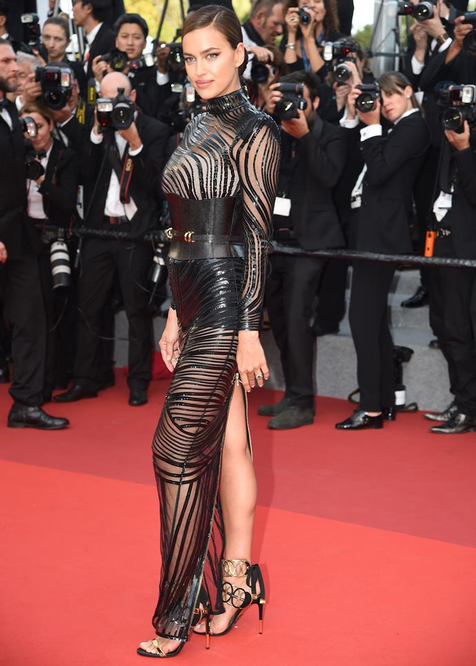 Irina on the red carpet.