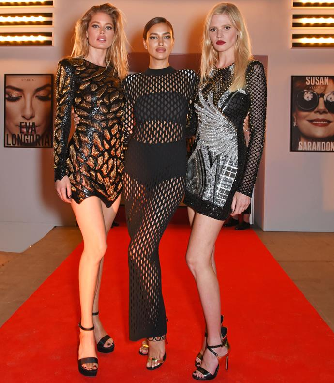 Doutzen Kroes, Irina and Lara Stone look amazing.