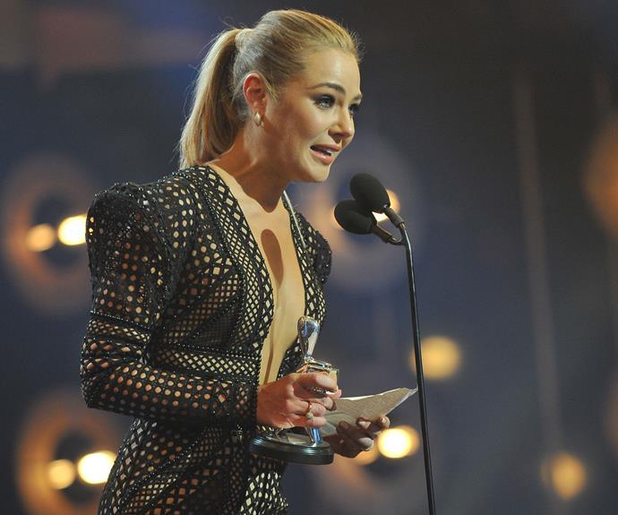 Jessica Marais at the TV WEEK Logie Awards.