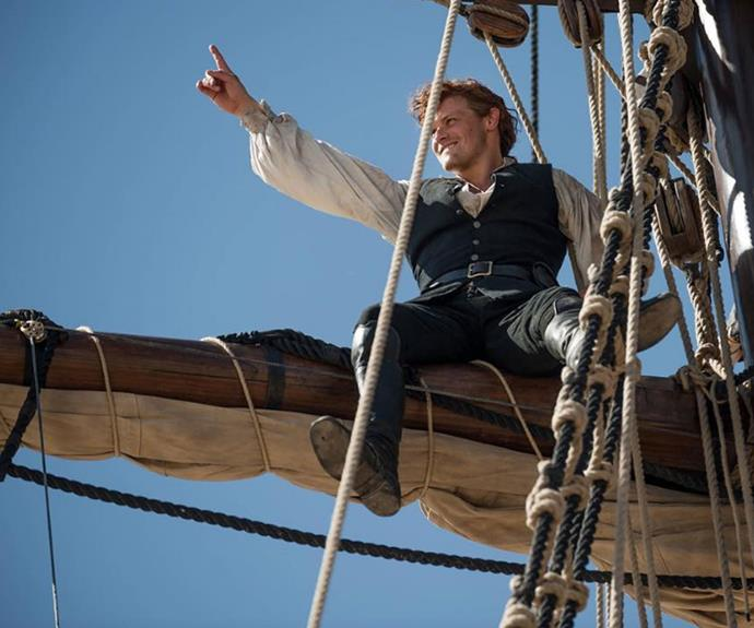 Sailing away with Jamie (Sam Heughan)? Sign us up!