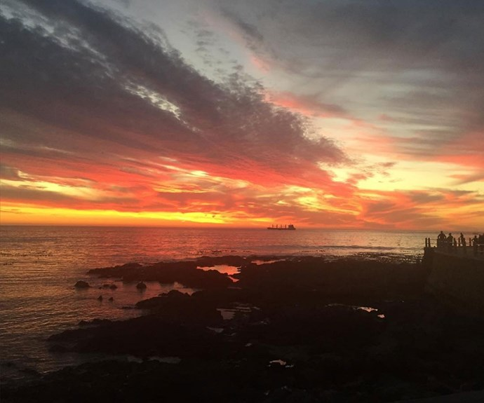 What a sunset! According to her Instagram, Caitriona is clearly loving filming in South Africa.