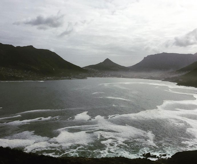 Caitriona Balfe's snap of South Africa's Hout Bay proves that the scenery is giving the Scottish Highlands a run for its money.