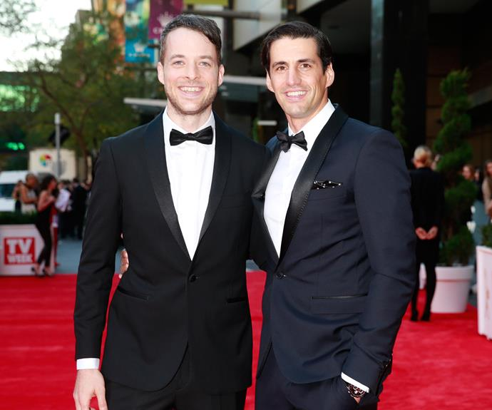 Hamish and Andy on the red carpet.