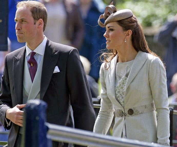 Catherine and Prince William both attended the wedding of Emily McCorquodale and James Hutt in 2012.
