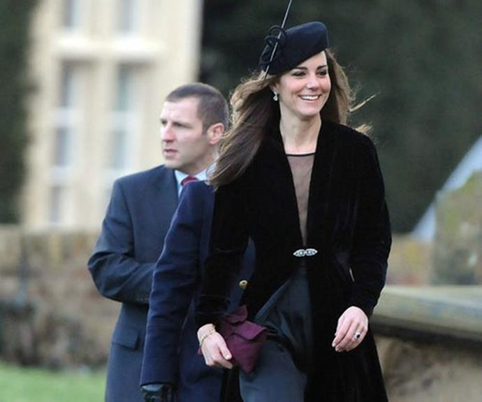 In 2011, at the wedding of the couple's friends Harry Aubrey-Fletcher and the Honorable Sarah Louise Stourton.